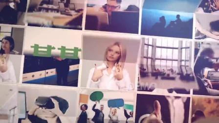 z15 90张照片图片翻转效果照片墙图片墙图片汇聚文字logo演绎片头ae模板