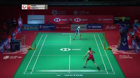2020马来西亚公开赛女单半决赛马林vs陈雨菲集锦