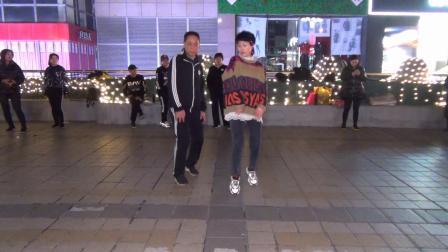 北京百荣伟伟曳步舞 老李和刘菲共舞 《曳疯狂》 2020-01-12