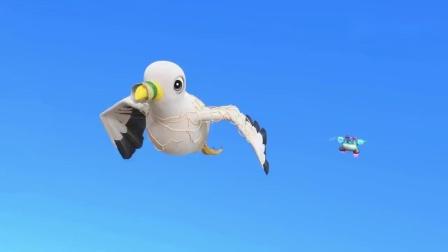 百变校巴:歌德发现海鸥飞行姿势不对,原来是它身上被垃圾给缠住