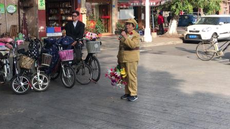 东莞陈淑贞摄多姨唱《今天是你的生日》庆祝2020年元旦在北隅社区公益惠民演出2020.1.2.