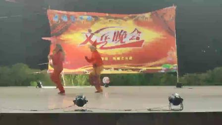 东莞超美成编辑华仔明仔反串表演《回娘家》庆祝2020年元旦荷塘艺术团惠民演出
