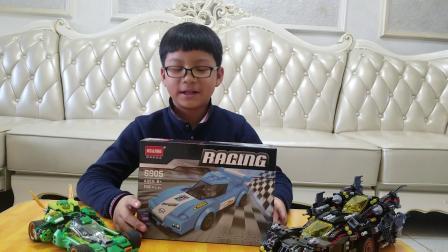 积木跑车非乐高赛车拼装玩具