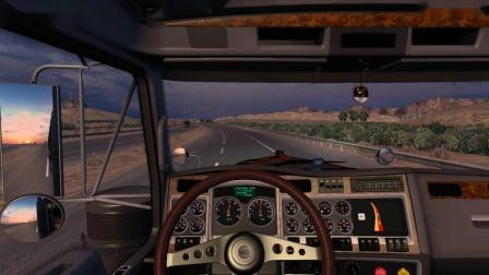 美国卡车模拟-肯沃斯W900+2节集装箱挂车(超长警告)
