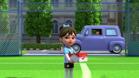 超级飞侠:胡丽塔不想去参加舞蹈,她想要踢足球-