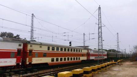 宣杭线泗安站 K4073次通过郑州局原色双层