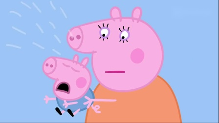 小猪佩奇佩奇到操场玩,她在哪里当秋千,乔治怕高不敢做秋千
