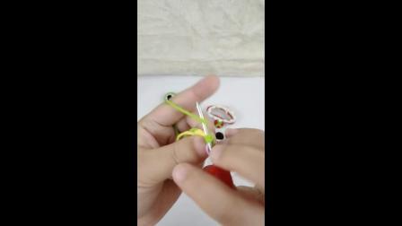 一安生活馆 diy手工毛线手环编织小青蛙手环 配件眼睛的钩法视频教程
