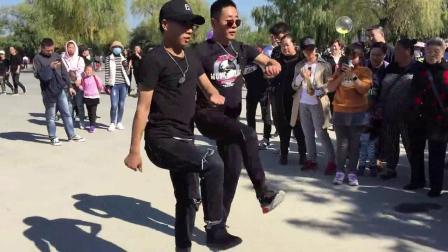 广场舞鬼步舞教学《绿旋风》变队形曳步舞舞编排