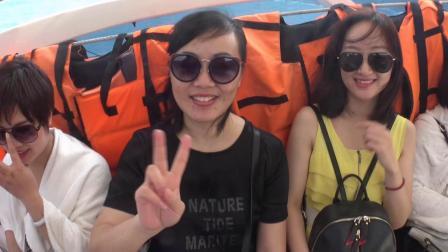 湖南长沙 家人欢迎来到泰国 芭提雅旅游景点。2020.1.20