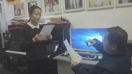 双龙声乐中心校长肖博老师给学生张雨柯上课  断桥 小青的歌