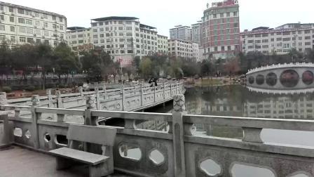 西湖冬韵,绿水映高楼,大美耒阳