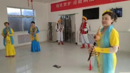 春节慰问铜川王益区中心敬老院.铜川葫芦丝艺术团