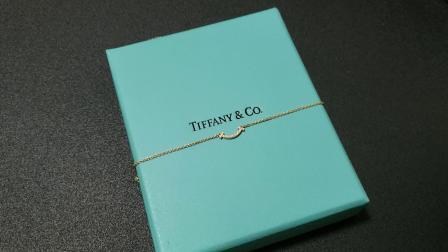 【惟悦坊】蒂芙尼玫瑰金Tiffany T系列满钻迷你微笑项链