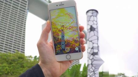 信息光柱 - 新加坡两百周年纪念