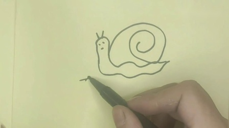 马克笔简单易学的少儿绘画蜗牛