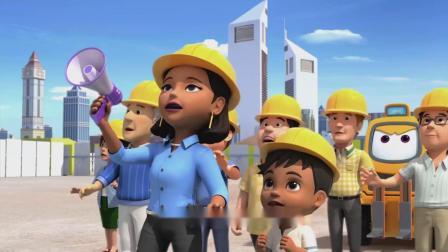 超级飞侠:地球村高塔快要倒塌,乐迪支撑不住,只好向总部求助