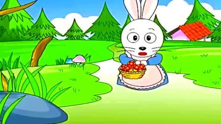 亲子趣味亲子故事儿童睡前故事小白兔和大灰狼,小兔乖乖把门开开