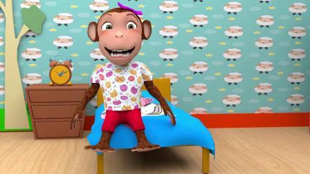 儿童卡通片:小猴子在家里烹制美味蛋糕
