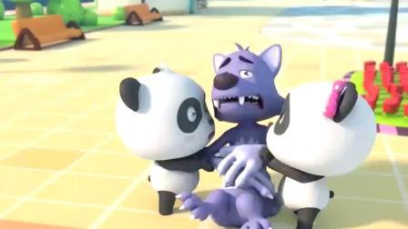 宝宝巴士动画:大灰狼要偷吃屋里的蛋糕,他会成功吗?