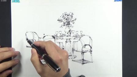 20200130_18-新款室内设计手绘讲解-钢笔室内手绘-设计师的手绘-千羽手绘01