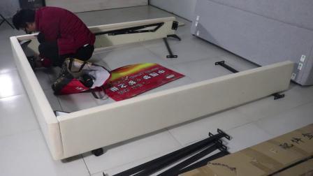 【梦之巢床垫】全网首发皮床布艺床液压箱体床安装教程 简约现代实木双人储物床超详细