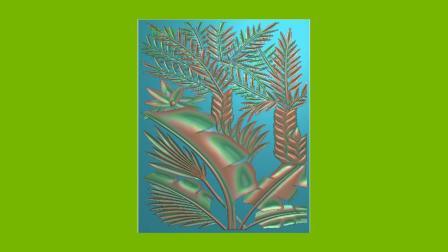 精雕图集-花鸟鱼虫-芭蕉叶