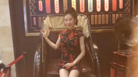 陈鹂舞蹈——港风旗袍秀,复古旗袍舞,时尚的扇子舞