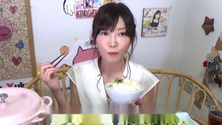 【大胃王】长野县特有的野泽菜一公斤,配上米饭一公斤