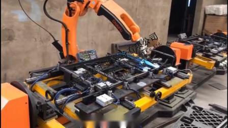 控制台钣金机器人焊接工作站