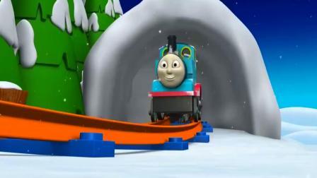 圣诞老爷爷飞过来开火车带孩子们住进新房子