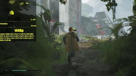 星战绝地陨落的武士团-RX5600XT/R5 3600-1080p与2K帧数测试
