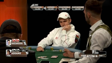 德州扑克:2020澳洲超级碗Day1精彩手牌01