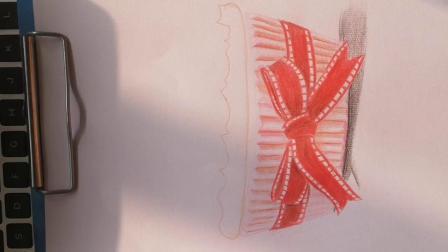白石美术学校自制,彩铅甜品示范