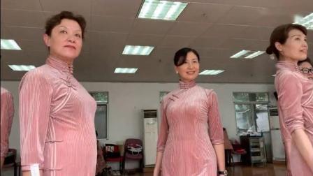 112俞膺老师中老年时装教学作品回顾旗袍《华夏情》