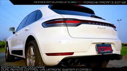MACAN S G2 STONE EDDY+CATBACK SYSTEM