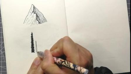 3.黑白风景插画练习