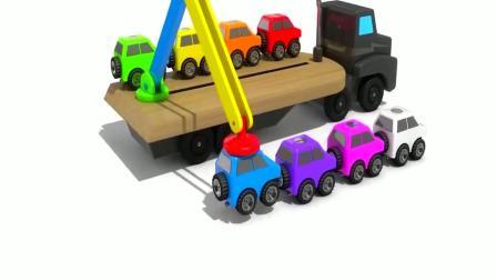 木锤敲击彩虹饼干木质小汽车儿童颜色早教