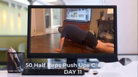 50 Half Reps Push Ups Challenge for 30days