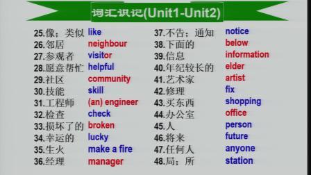 """汪曾祺学校""""空中课堂""""专题教学--九年级英语4"""