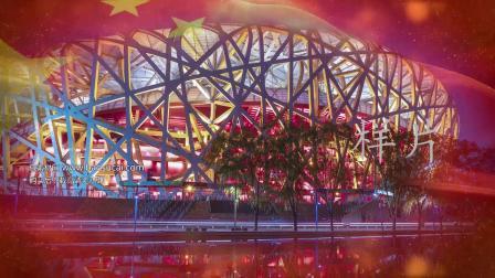 c544大中国背景视频素材歌曲LED大屏幕背景视频素材 包素材网