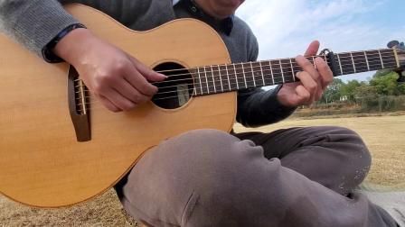 在田里弹琴,指弹改编日本民谣 夏川里美《泪光闪闪》 手机录