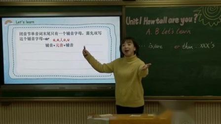 六年级:英语(人教版)《Unit1 How tall are you_ PartA B Let's learn》【周敏[南昌市青云谱学校]】