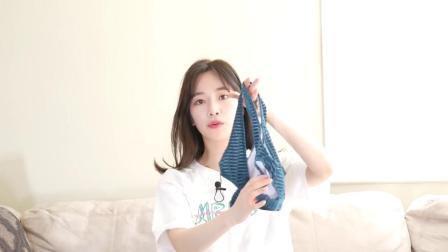 韩国小姐姐分享试穿泳衣