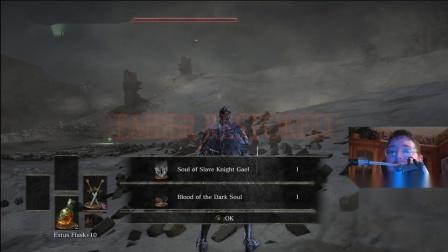 【游民星空】肌肉萎缩症玩家用下巴击败《黑魂3》最难BOSS奴隶骑士盖尔