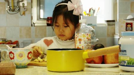 Julia 小可爱萌萌 健康营养美食集锦 香蕉牛奶鸡蛋饼