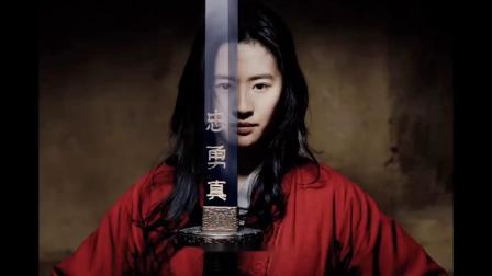 刘亦菲花木兰动图,打戏基本上亲自完成,没了神仙姐姐的滤镜更有魅力了