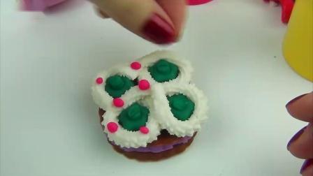 北美玩具:培乐多彩泥橡皮泥蛋糕饼干冰淇淋玩具,粘土手工制作,外国糖果!