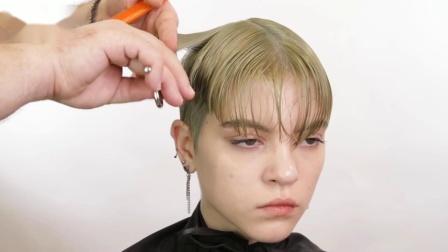 那些模特个性化女士短发发型怎样修剪的,供发型师剪发学习