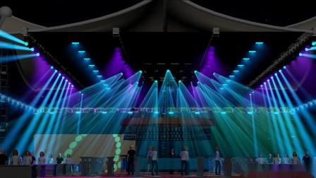 露天酒吧工程3D设计视觉方案 ON2酒吧工程灯光设计天街灯光工程3D方案设计